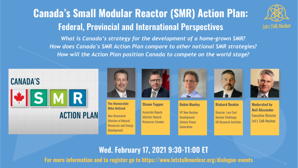 2Canada's SMR Action Plan: Federal, Provincial and International Perspectives February 17 2021