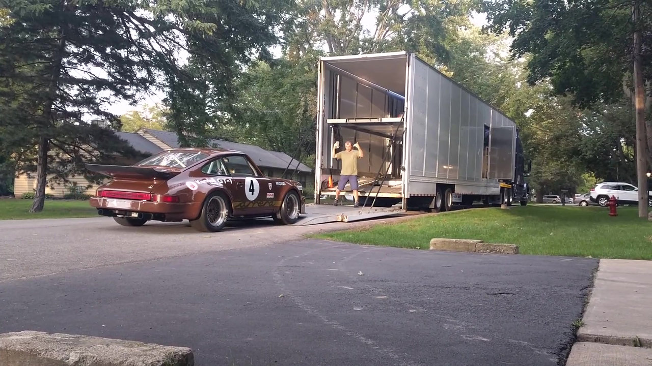 Loading up for the 2018 Rennsport Reunion adventure