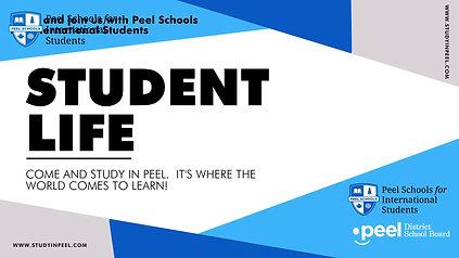 Student Life @ Peel Schools for International Students