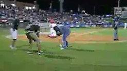 Meagan Beats Ryan in Dizzy Bat Race
