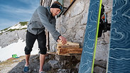 Upcycling Hüttenschua aus Skifellen