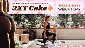 Week 2 Day 1 of 3XT CAKE: WEIGHTS Single-Leg Work intro
