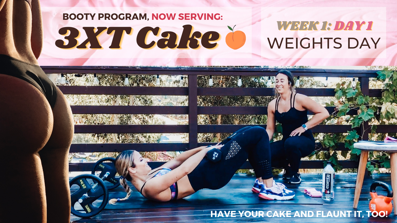 Week 1: Day 1 of 3XT Cake : WEIGHTS Day