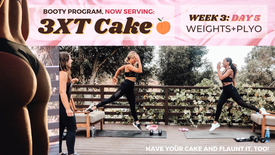 EXERCISE: Week 3 Day 5 of 3XT CAKE- WEIGHTS+PLYO