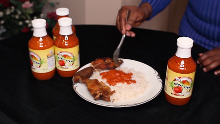 Afric Sauce on Rice