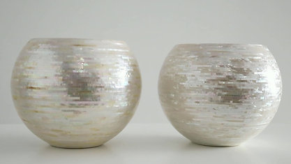 Material Dialogue 3. Mother of Pearl and metal