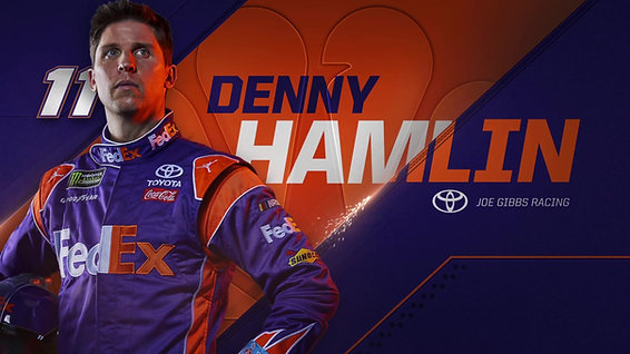 Nascar Driver Denny Hamlin NBC Sports Swipe