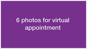 Taking photos for a virtual appointment
