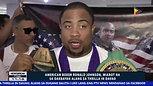 NEWS BREAK: American boxer Ronald Johnson, miabot na sa dakbayan alang sa Thrilla in Davao