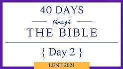 Day 2 - Lent 40/40 (Genesis3)