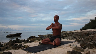 20 min stress relief yoga sequence in Rarotonga, Cook Islands
