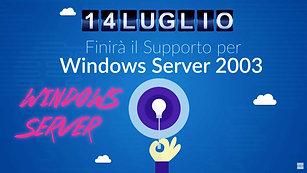 Aruba Cloud - Fine del supporto di Microsoft a Windows Server 2003