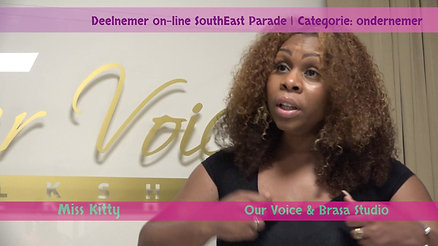 2e prijs on-line challenge | Miss Kitty Balker Talkshow Our Voice & Brasa Studio's