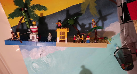Lego Christmas Rube Goldberg Machine