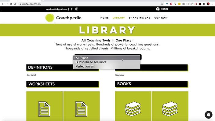 Coachpedia - The Library