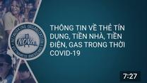 Thông tin về thẻ tín dụng, điện, gas, internet trong mùa Covid 19