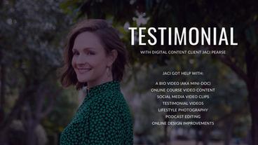 Client Testimonial by Jaci Pearse, Medium and Spiritual Teacher