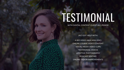 Client Testimonial by Jaci Pearse