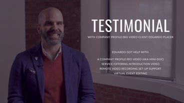 Client Testimonial by Eduardo Placer, Founder of Fearless Communicators
