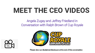 Conversation with Ralph Brown of Cup Royale