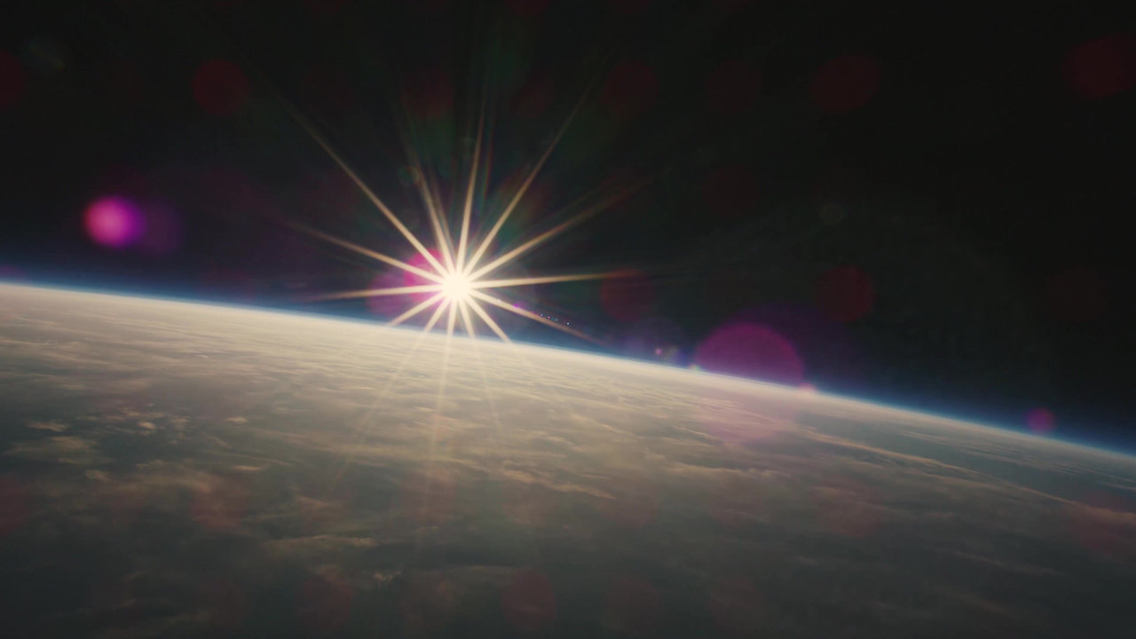 Sunset in Space in 8k with Samsung