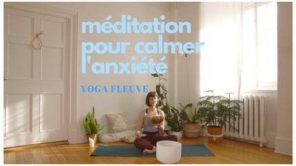 méditation pour calmer l'anxiété