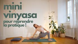 mini vınyasa pour reprendre la pratique !