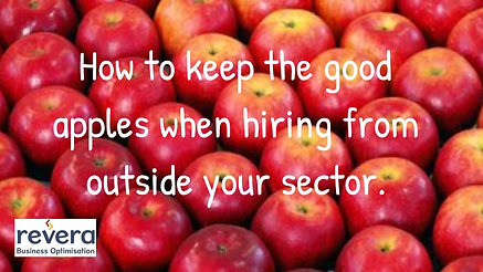 How to hire the good apples and keep them working with you