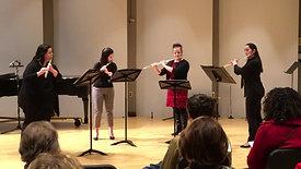 Trois Pièces for Flute Quartet, Mvt. 1