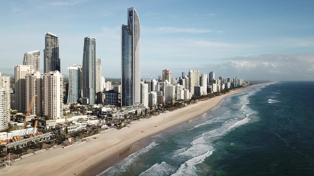 Aerial Drone video Surfers Paradise Gold Coast  DJI_0088