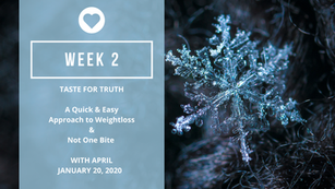 TFT - Week 2- A Quick And Easy Approach To Weightloss