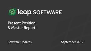Leap Software Update September 2019