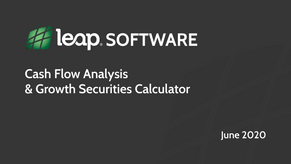 Cash Flow Analysis & Growth Securities Calculator