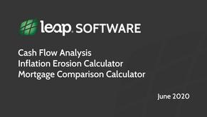 Leap Software Lab: Cash Flow Analysis, Inflation Erosion, Mortgage Comparison
