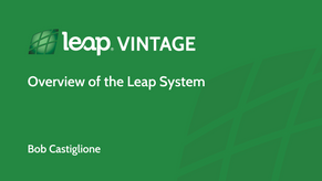 DVD1 Overview of the Leap System