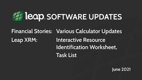 Leap Software Updates | June 2021