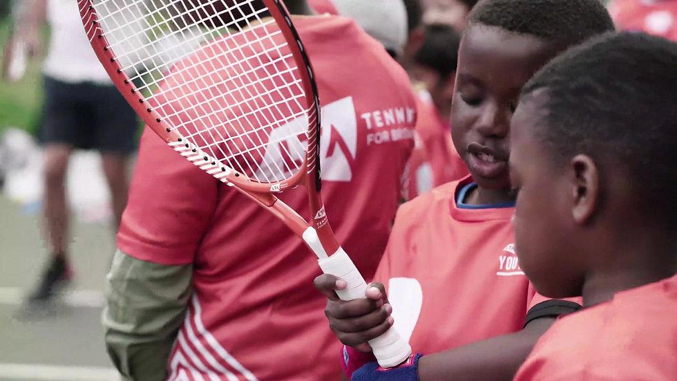 G tennis Sponsor a child promo vid