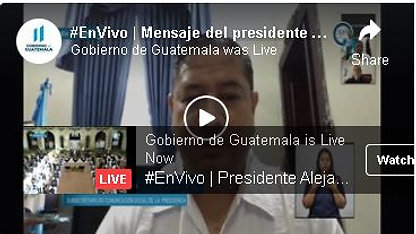 #EnVivo | Mensaje del presidente Alejandro Giammattei sobre su estado de salud actual.