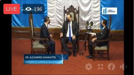 Presidente Alejandro Giammattei recibe cartas credenciales de Cuerpo Diplomático acreditado en Guatemala.