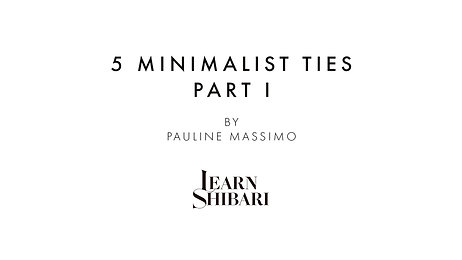 5 Minimalist Ties - Part I