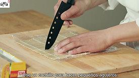 Envolviendo tu estera de bambú en plástico