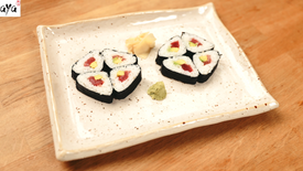 Dreieck-Sushi-Rolle