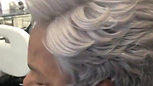 Lace Front Wig with Custom Color #silverfox