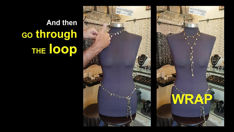 How to use an open silk necklace_FB