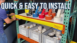 Racking Placard Label Holder by INTELLI-PLAC
