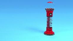 Spiral Gumball Machine Animation
