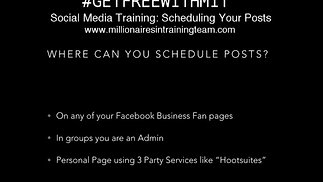 Social Media Training: Scheduling Your Posts