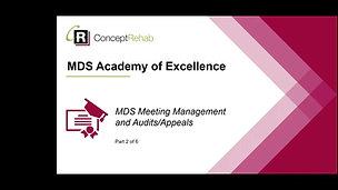 MDS Meeting Management & Audit/Appeals