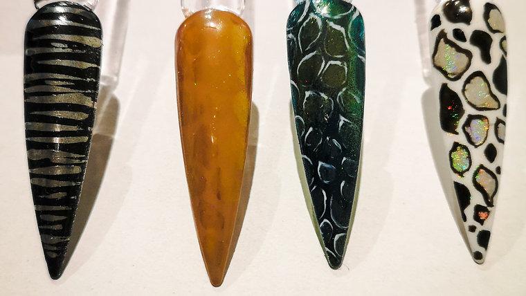Giraffe Chrome Design Nail Art Workshop
