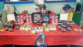 Power Rangers themed 4th birthday